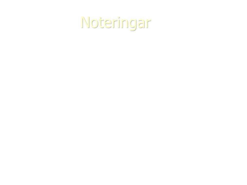 Noteringar
