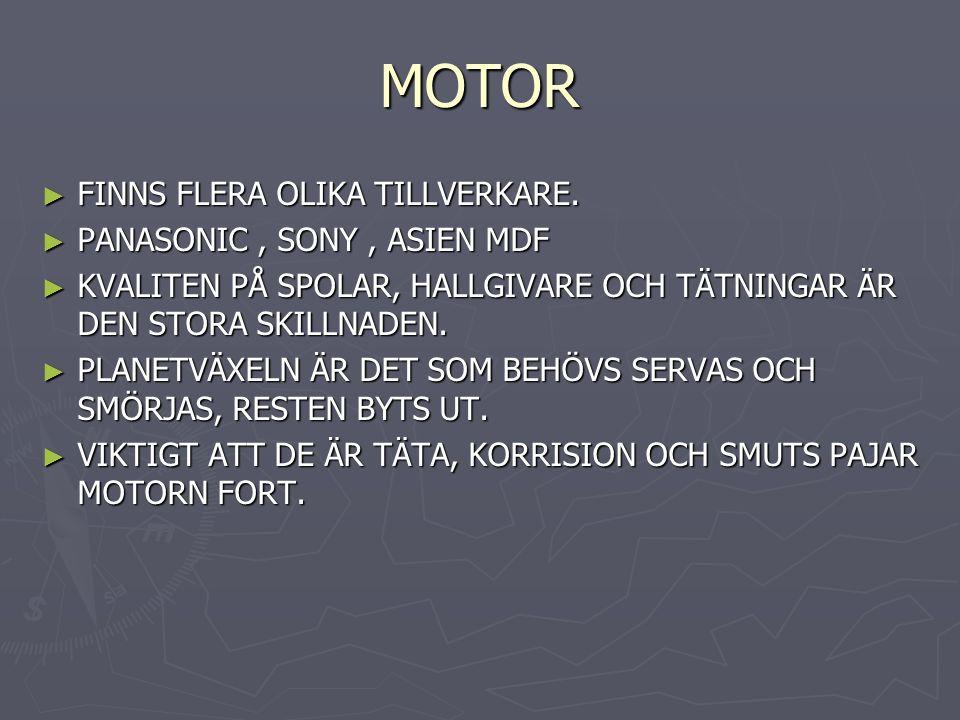 MOTOR ► FINNS FLERA OLIKA TILLVERKARE.