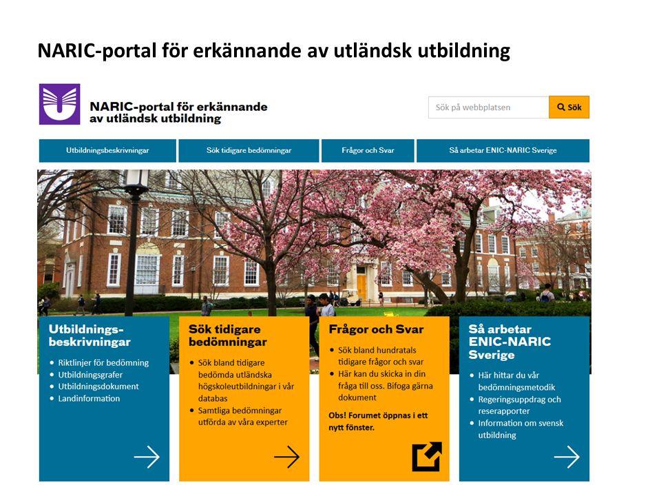 Sv Information om olika länders utbildningssystem och tips vad du bör tänka på när du bedömer utländska examina NARIC-portal för erkännande av utländsk utbildning