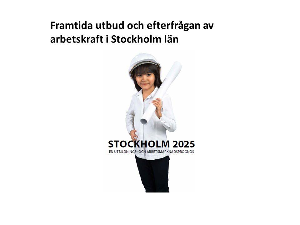 Framtida utbud och efterfrågan av arbetskraft i Stockholm län