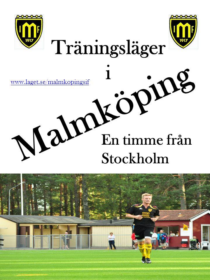 Träningsläger i Malmköping Bild på konstgräsarenan www.laget.se/malmkopingsif En timme från Stockholm
