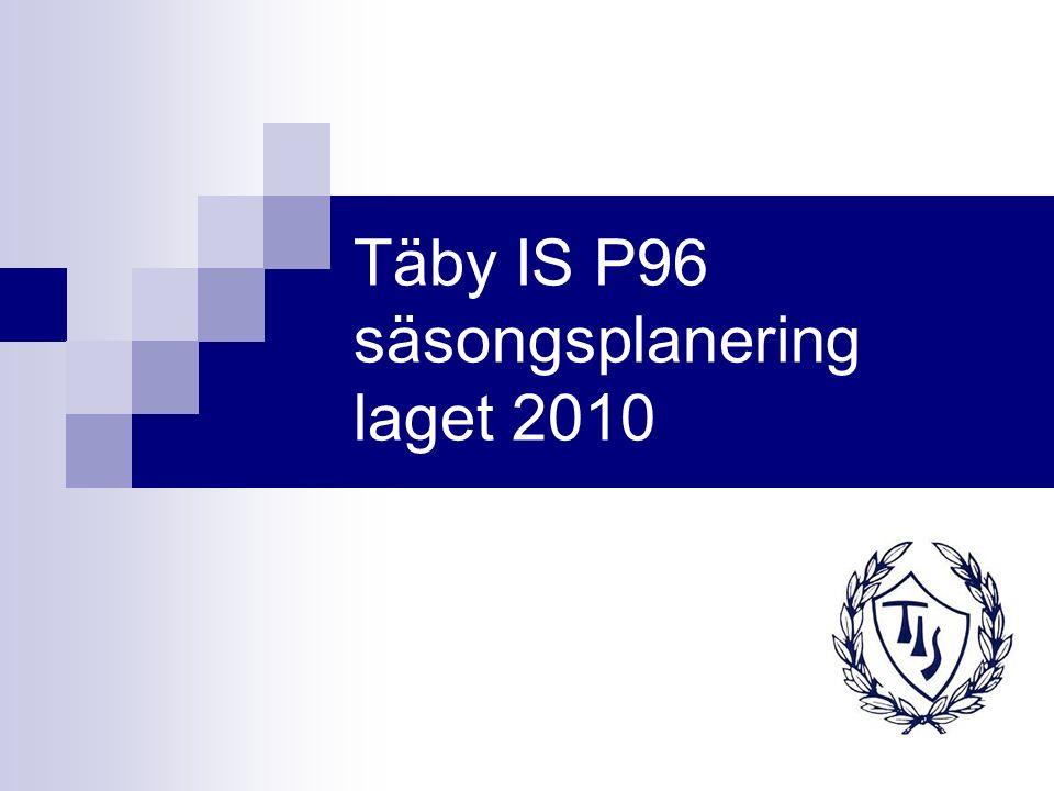 Täby IS P96 2010 Totalt drygt 50 killar.Flera nytillkomna under vintern.