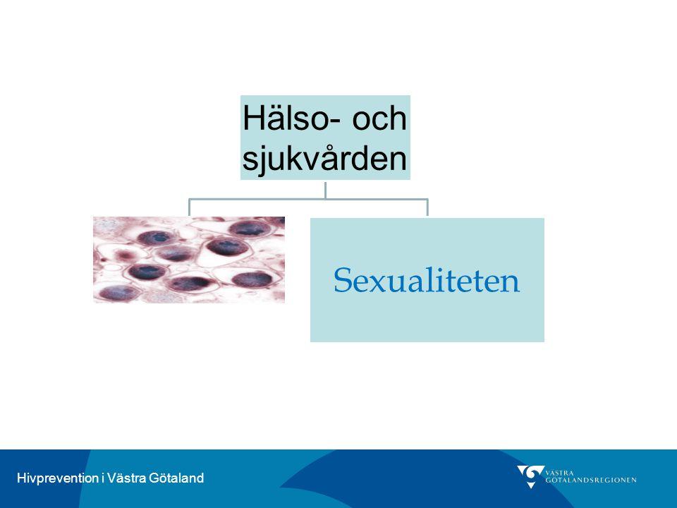 Hivprevention i Västra Götaland Hälso- och sjukvården Sexualiteten