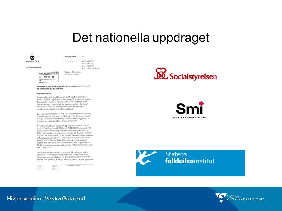 Hivprevention i Västra Götaland Det nationella uppdraget