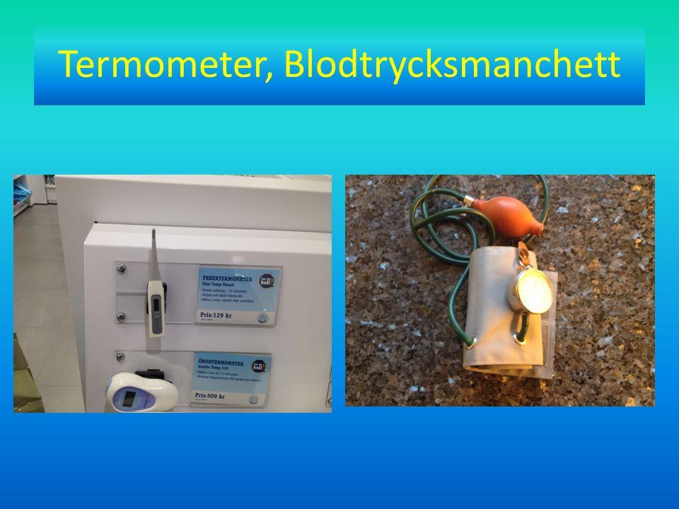 Termometer, Blodtrycksmanchett