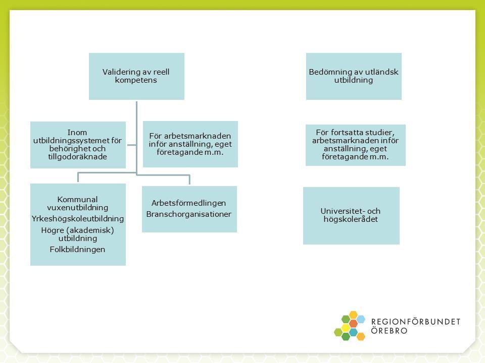 Vilka grundförutsättningar måste finnas för att möjliggöra utveckling av valideringsmodell.