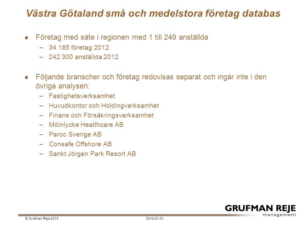 De största företagen inom Hälso & Sjukvård 2014-01-31© Grufman Reje 2013