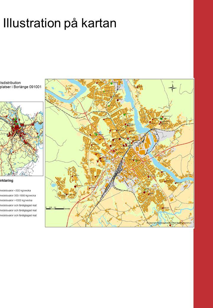 Borlänge stad Mellanrubrik Punkt Mellanrubrik Punkt Illustration på kartan