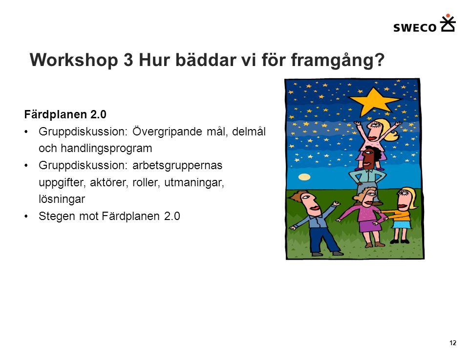 Workshop 3 Hur bäddar vi för framgång.