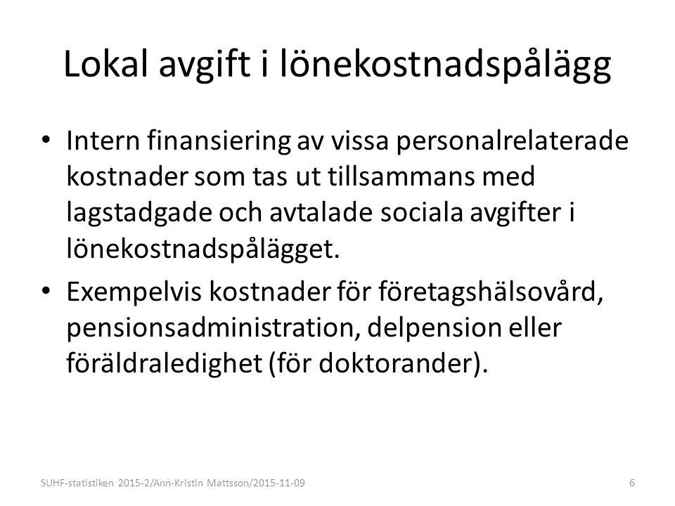 Nivåer forskning - utveckling SUHF-statistiken 2015-2/Ann-Kristin Mattsson/2015-11-0937