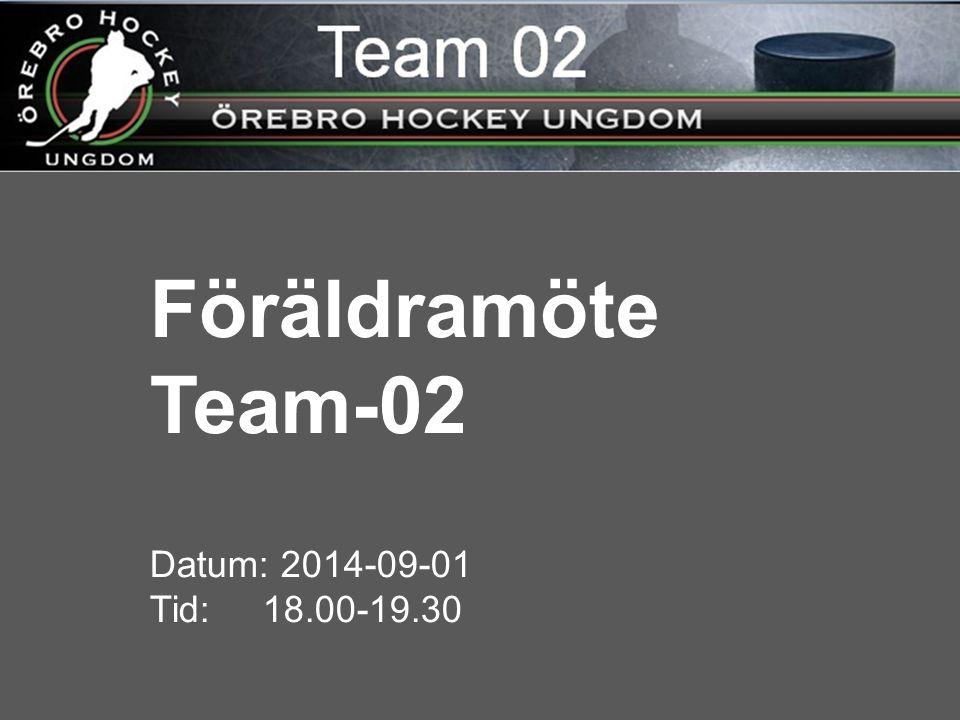 Föräldramöte Team-02 Datum: 2014-09-01 Tid: 18.00-19.30