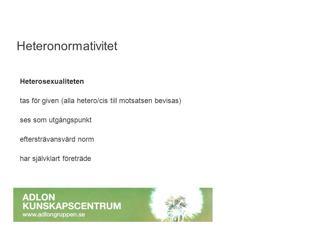 Hälsan bland transpersoner i Sverige Drygt 50% har ett bra eller mycket bra hälsotillstånd (73% i den generella befolkningen) Drygt 50% uppger att deras arbetsförmåga eller vardag är nedsatt på grund av fysisk eller psykisk sjukdom.