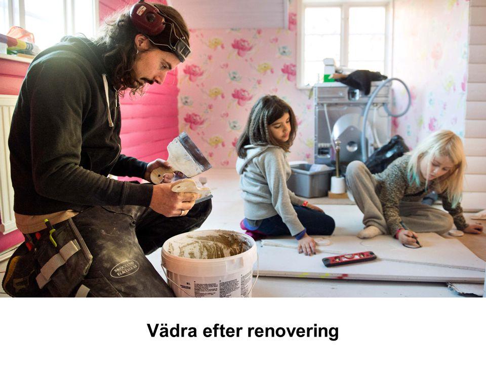 Vädra efter renovering