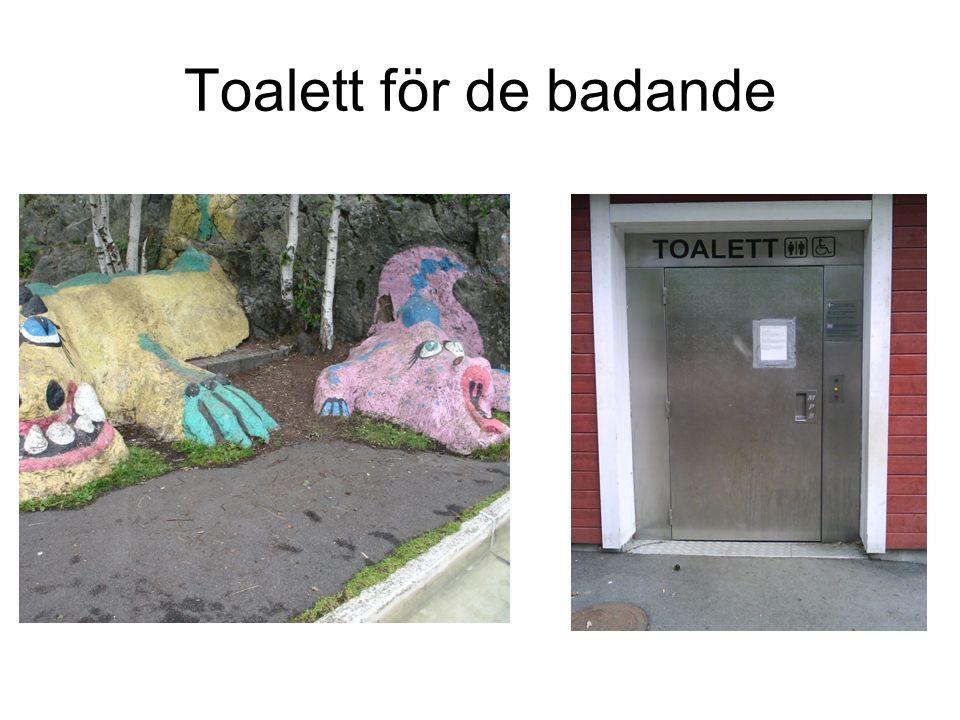 Toalett för de badande