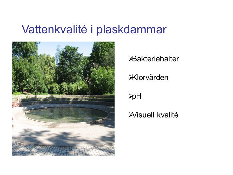 Badvattenkvalité i Plaskdammar och faktorer som påverkar den.