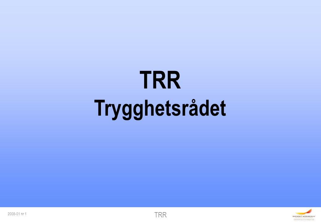 TRR 2008-01 nr 1 TRR Trygghetsrådet
