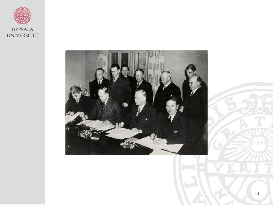 Historik -1906------1936------1973------1976—---1995- December- lag RF MBL EKMR kompromiss om Föreningsfrihet och förhandlingsrätt 14