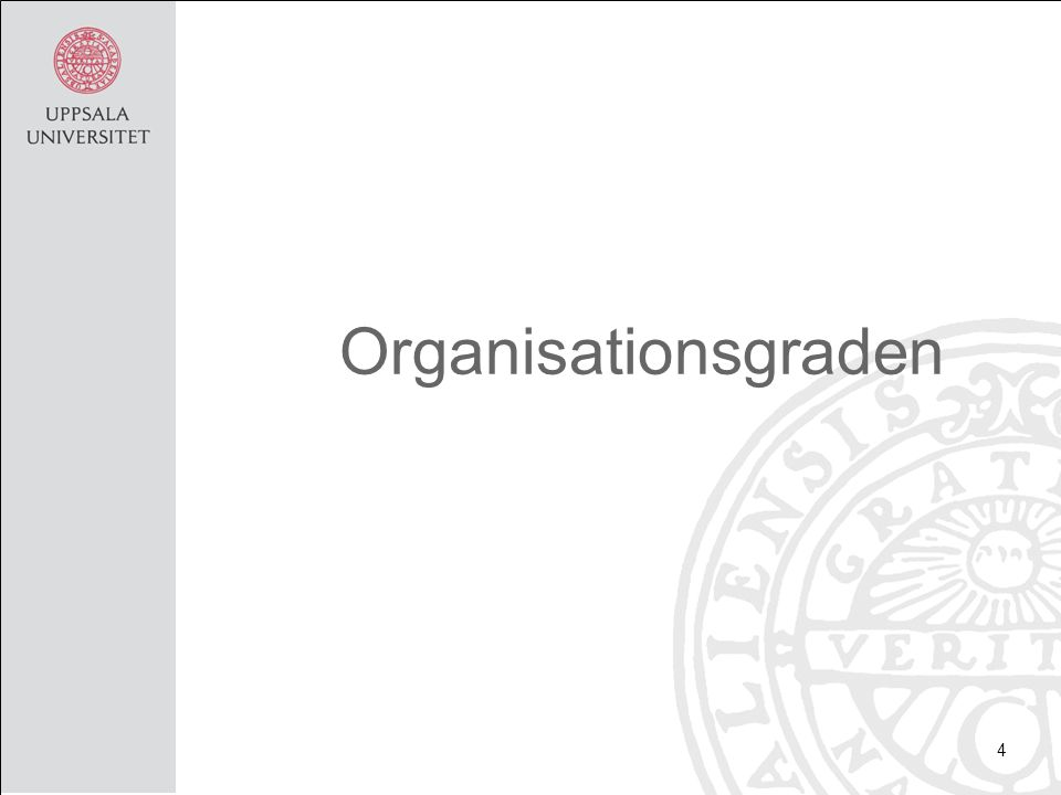 Organisationsgraden 4