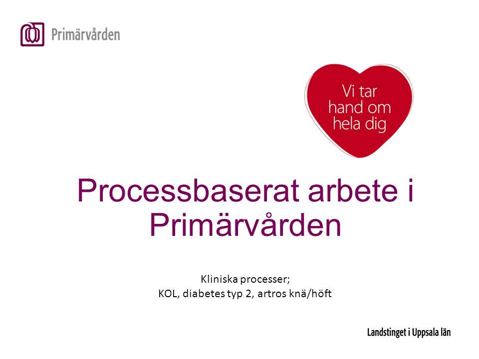 Processbaserat arbete i Primärvården Kliniska processer; KOL, diabetes typ 2, artros knä/höft