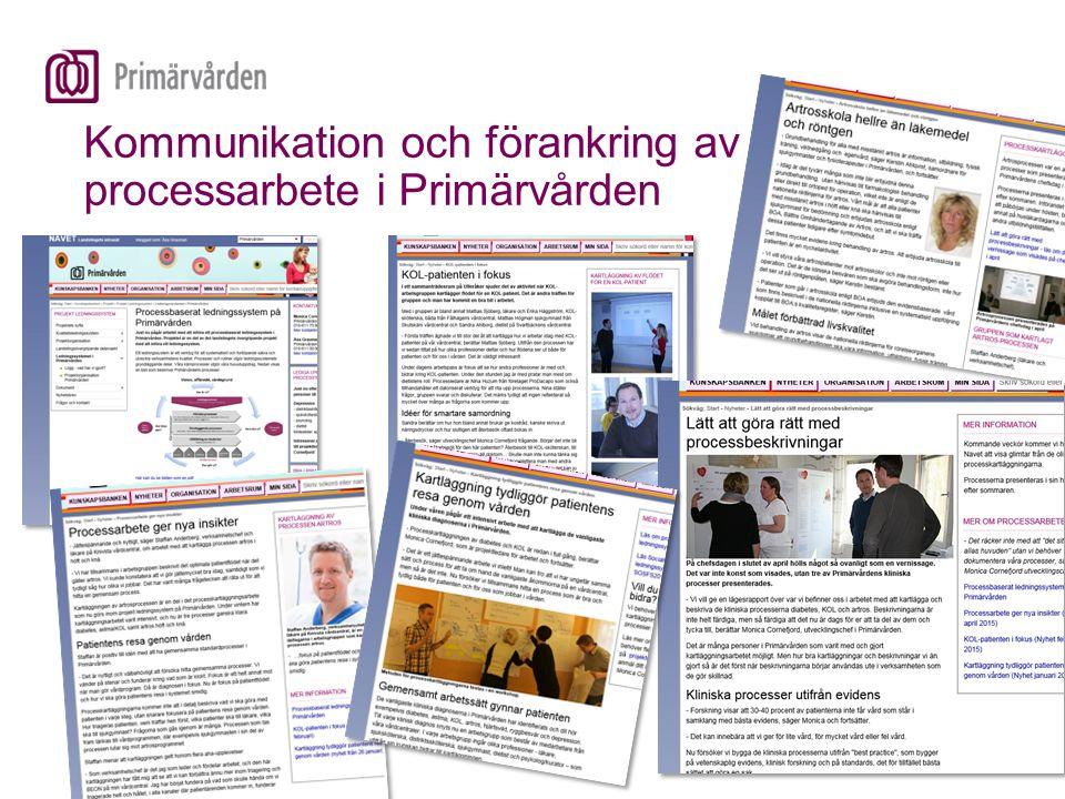 Kommunikation och förankring av processarbete i Primärvården