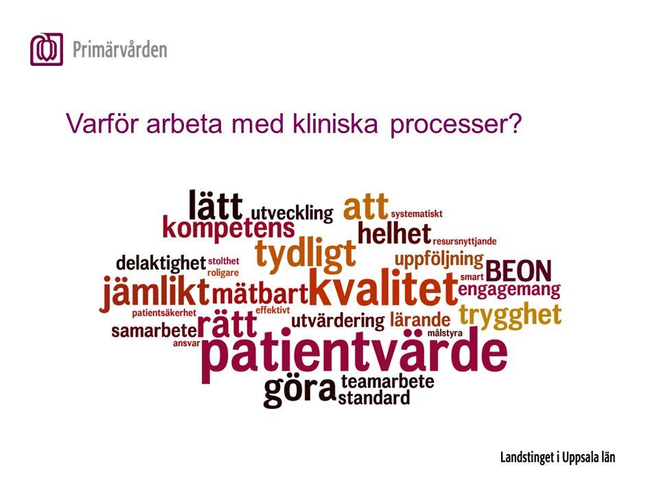 Varför arbeta med kliniska processer?