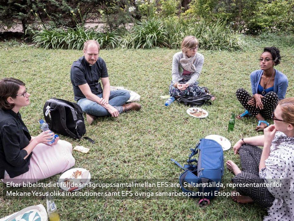 Efter bibelstudiet följde smågruppssamtal mellan EFS:are, Saltanställda, representanter för Mekane Yesus olika institutioner samt EFS övriga samarbetspartner i Etiopien.