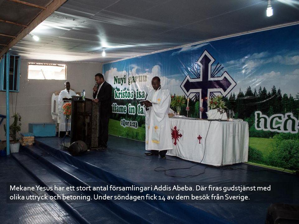 Mekane Yesus har ett stort antal församlingar i Addis Abeba.