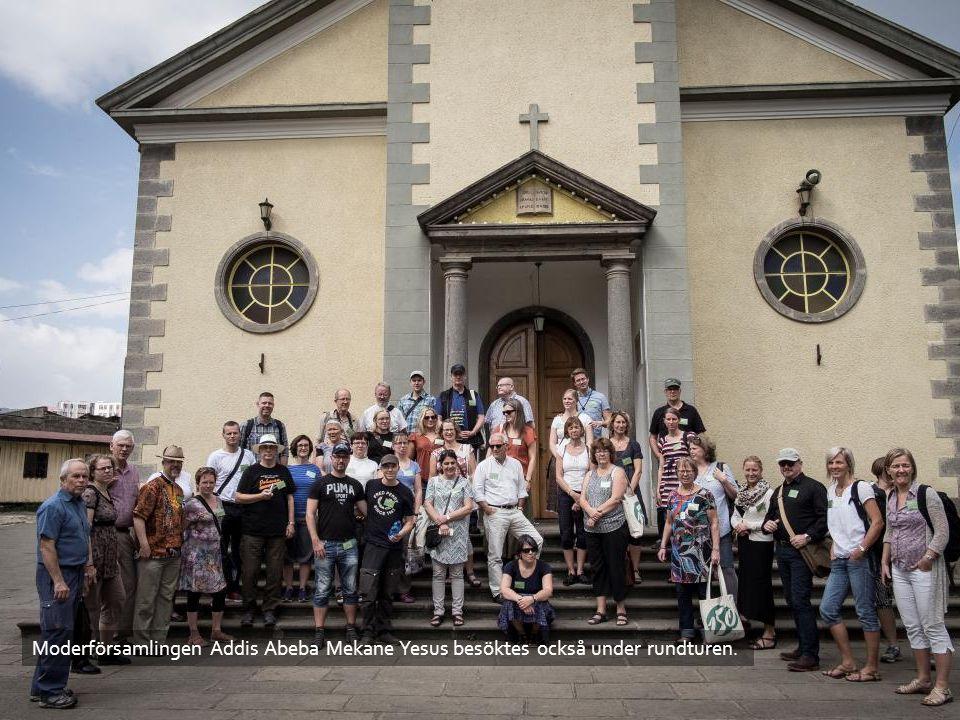 Moderförsamlingen Addis Abeba Mekane Yesus besöktes också under rundturen.