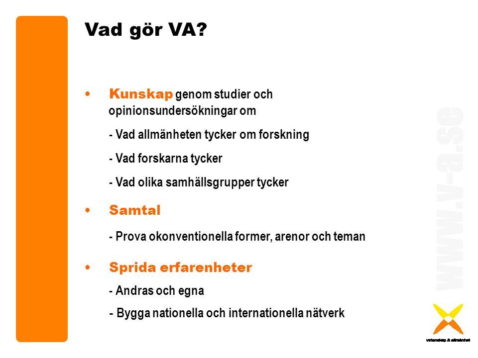 www.v-a.se Vad gör VA.