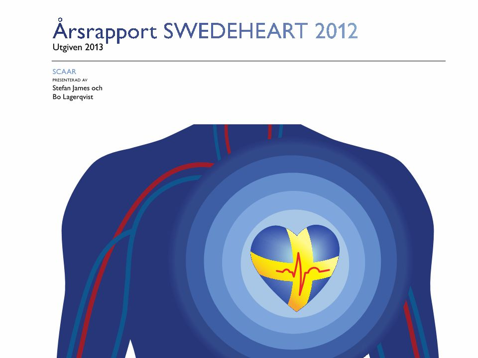 Utgiven 2013 – SCAAR Figur 28. Riskfaktorer vid PCI p.g.a. ST-höjningsinfarkt per år, 2000–2012.