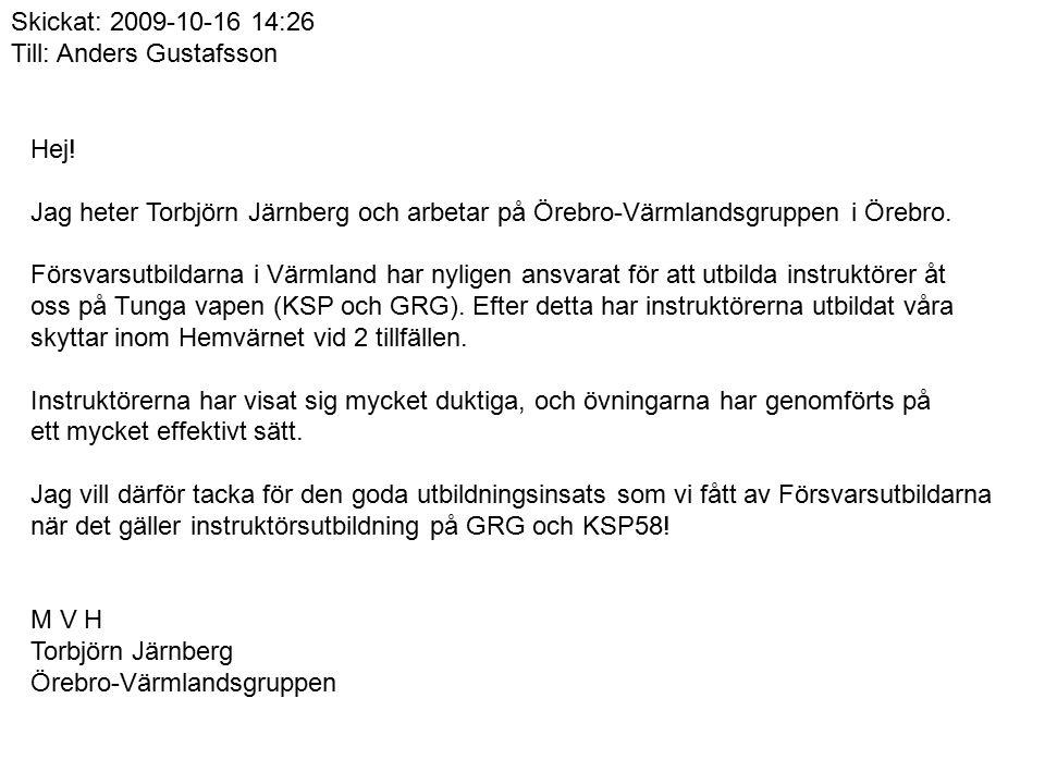 Hej! Jag heter Torbjörn Järnberg och arbetar på Örebro-Värmlandsgruppen i Örebro. Försvarsutbildarna i Värmland har nyligen ansvarat för att utbilda i