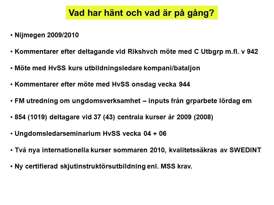 Skjututbildningen i FM har ändrat inriktning: MSS gav ut Fu Skjut R A våren 2009.