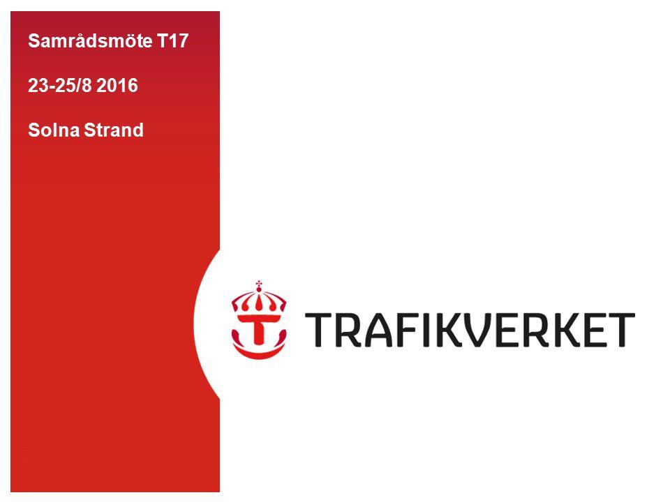 TMALL 0141 Presentation v 1.0 Samrådsmöte T17 23-25/8 2016 Solna Strand