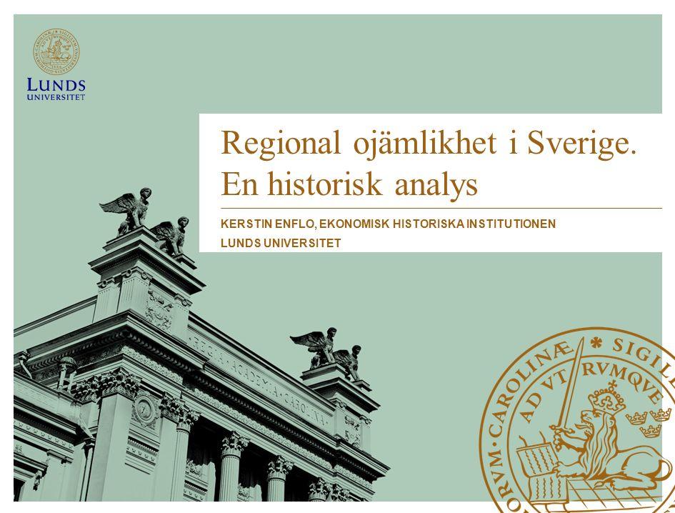 Regional ojämlikhet i Sverige.