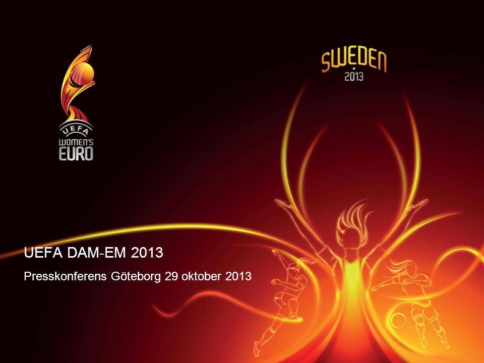 UEFA DAM-EM 2013 Presskonferens Göteborg 29 oktober 2013