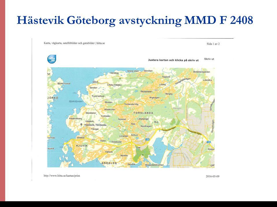 32 Hästevik Göteborg avstyckning MMD F 2408 DOMSTOLSAKADEMIN