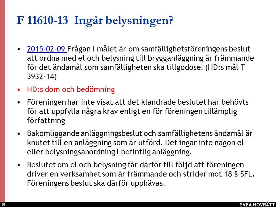 38 F 11610-13 Ingår belysningen.
