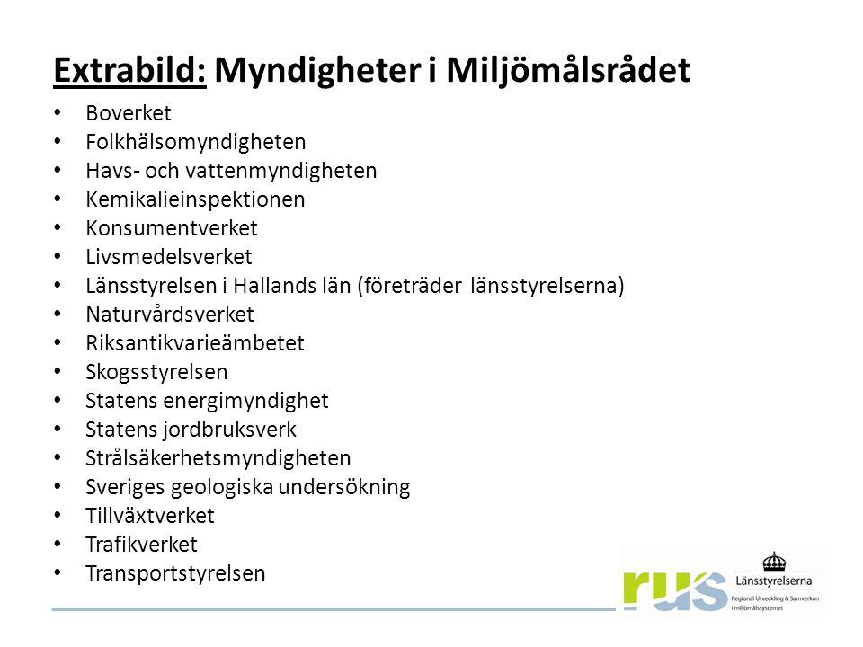Extrabild: Riktlinjer Miljömålsrådets gemensamma lista Förslag till 30 nov, inför mötet i rådet 9 dec.