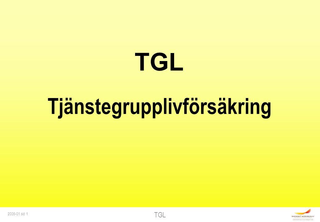 TGL 2006-01 sid 12 FÖRDELNING AV TGL Generella förmånstagare TjänstemanArbetare GiftSamboGift/sambo Annan sambo Sonja6 - 6 3 Calle, 10 år22 + 2 2 1 + 2 Anna, 15 år22 + 2 2 1 + 2 Stina, 22 år-2 - 1 Dödsbo-- 0,5 0,5