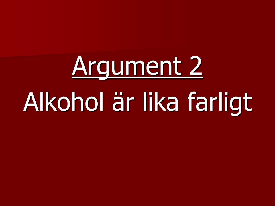 Argument 2 Alkohol är lika farligt