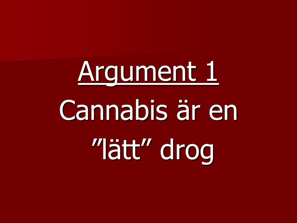 Argument 1 Cannabis är en lätt drog lätt drog