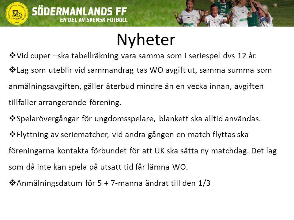 Nyheter  Elektroniska domarrapporter för all 11-manna fotboll i Södermanland ska gälla.