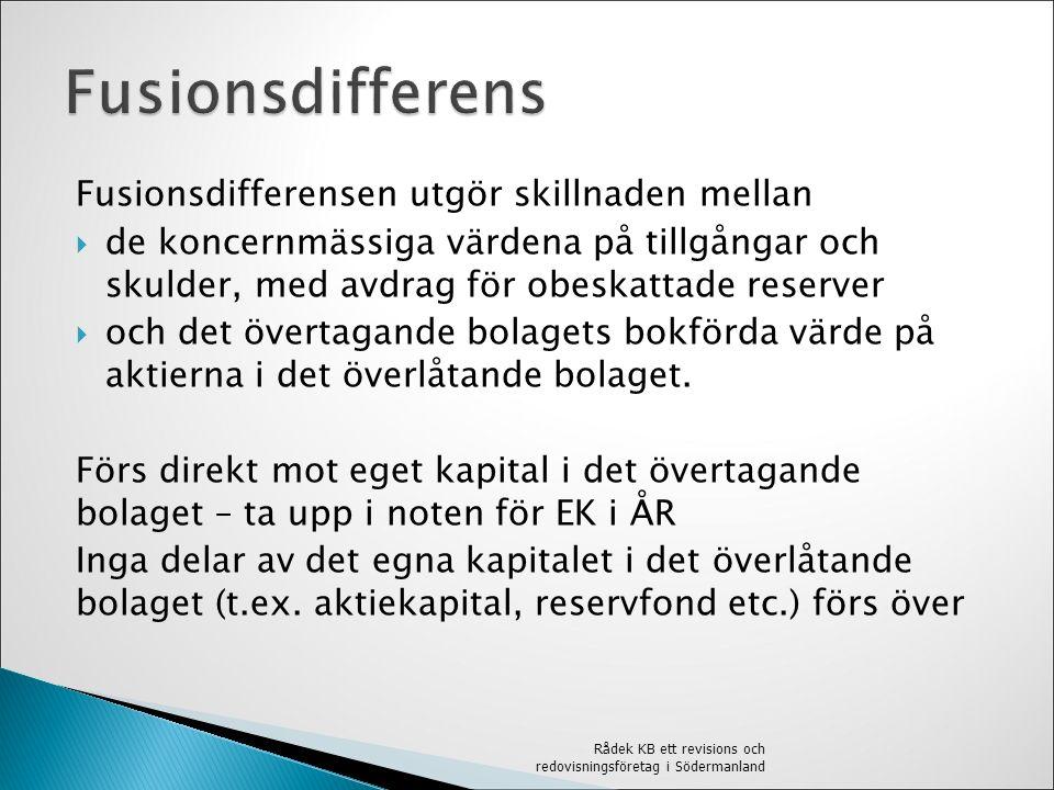  Förvaltningsberättelsen - Upplysning om att fusion skett.
