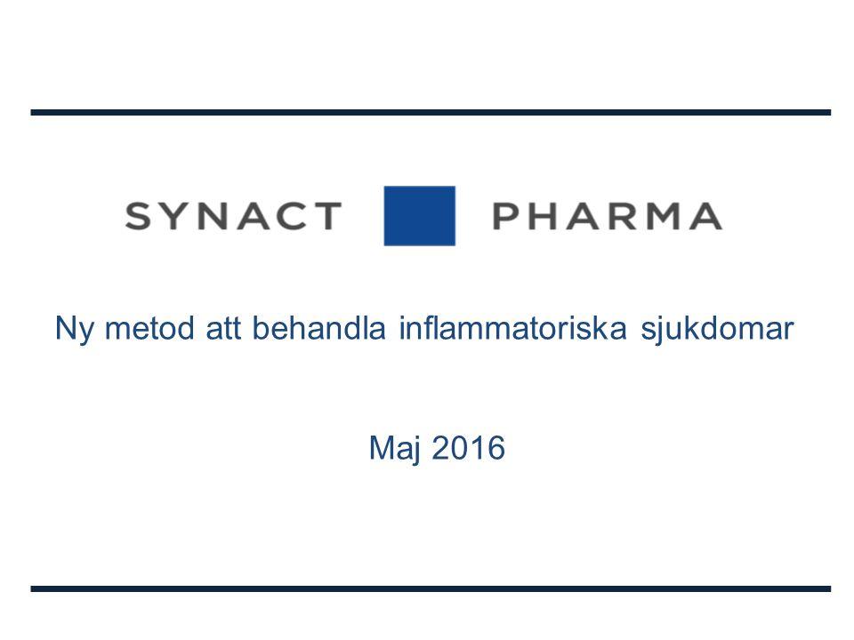Ny metod att behandla inflammatoriska sjukdomar Maj 2016