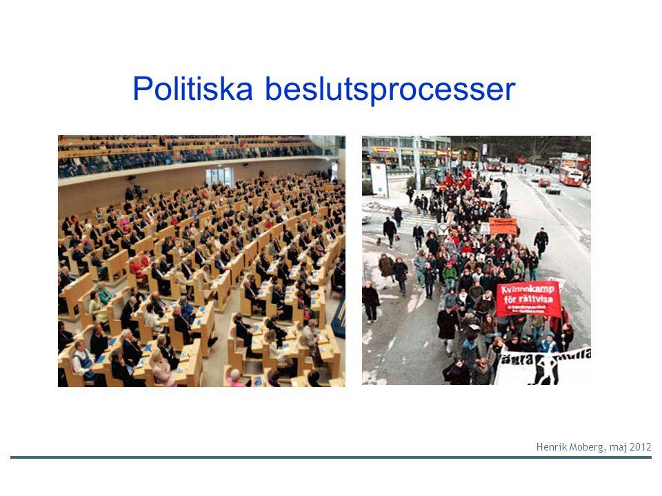 Politiska beslutsprocesser Henrik Moberg, maj 2012