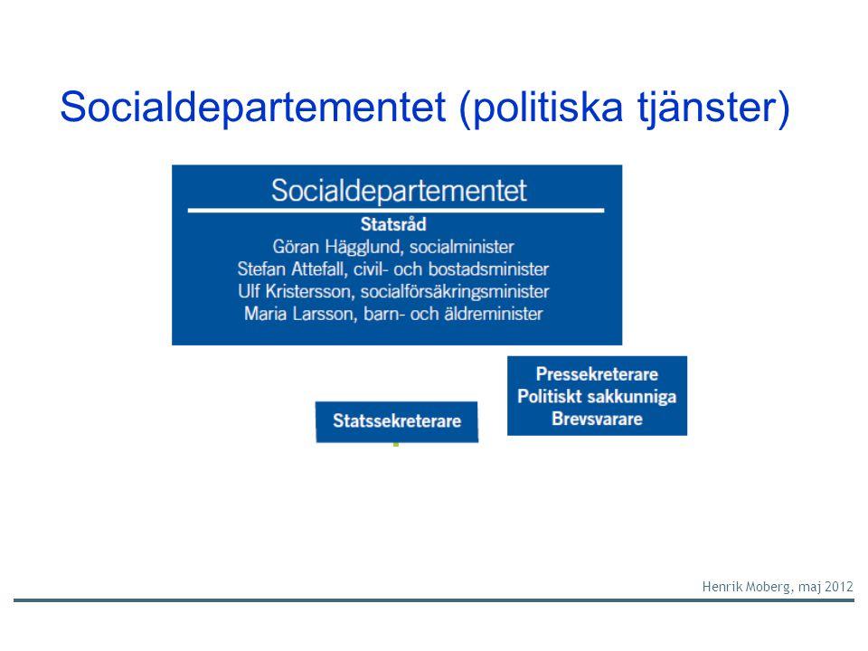 Socialdepartementet (politiska tjänster) Henrik Moberg, maj 2012