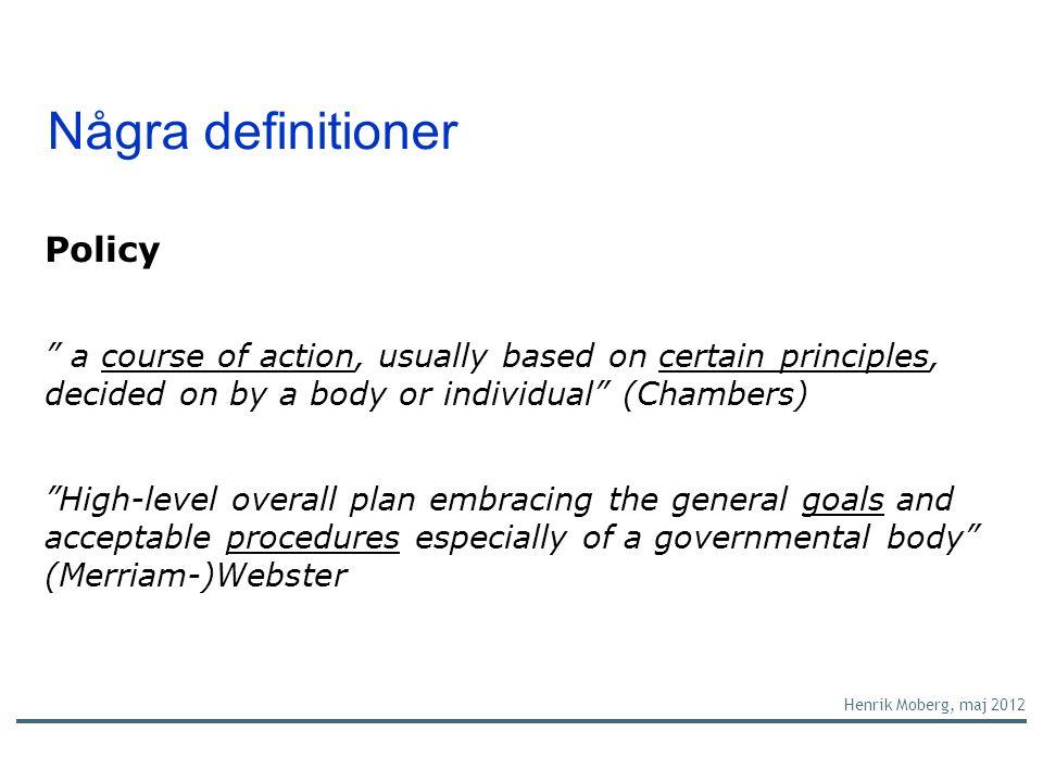 Några definitioner forts.