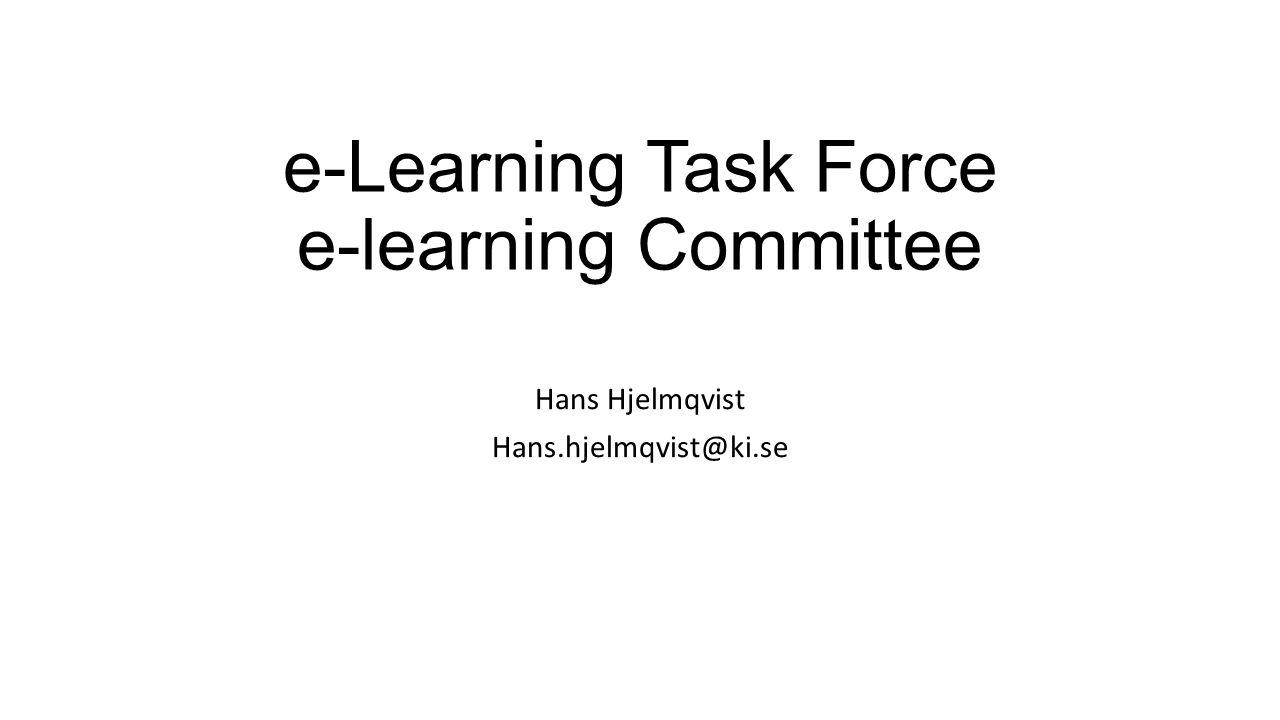 E-learning Task Force Förbereda arbetet i ELC Definiera/förbereda för New ESICM Academy Platform Bildades under våren, under 6 mån möten i Bryssel, Cambridge, Nicosia, Berlin + telefonmöten, telefonmöten,……..
