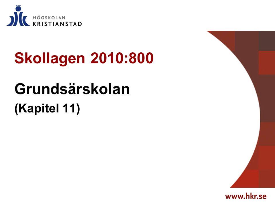 Skollagen 2010:800 Grundsärskolan (Kapitel 11)
