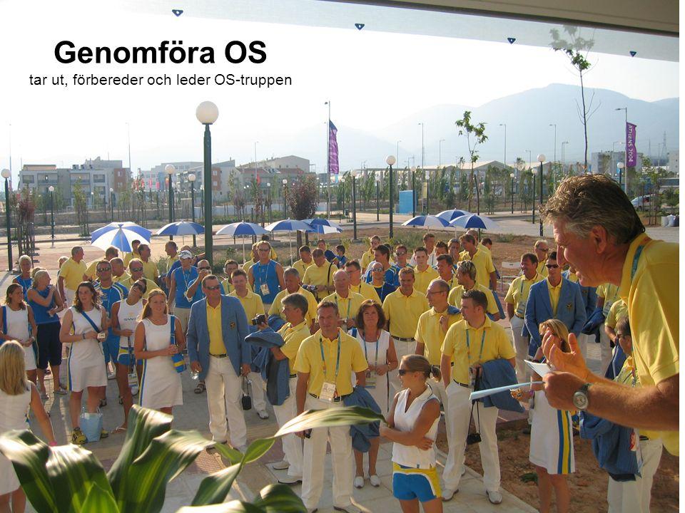 Genomföra OS tar ut, förbereder och leder OS-truppen